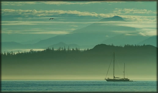 Knight Inlet Sailboat Landscape